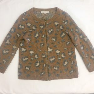 Ann Taylor Loft Cheetah Leopard Sweater Small